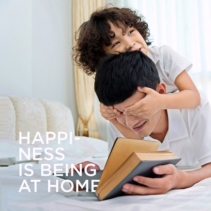 HAPPINESS IS BEING AT HOME