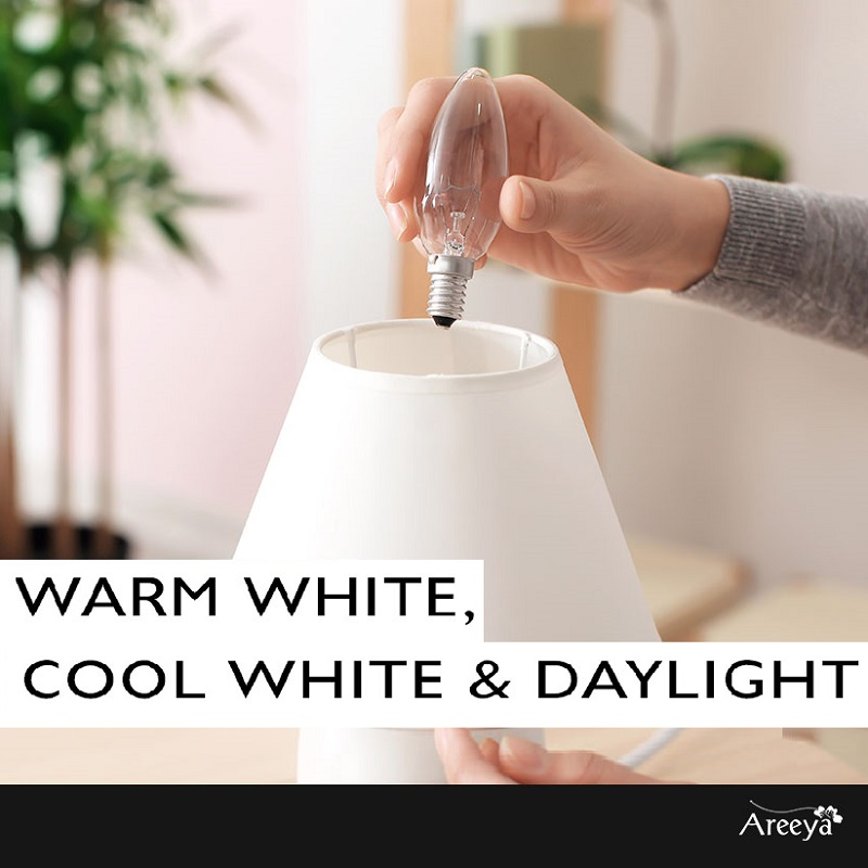WARM WHITE, COOL WHITE & DAYLIGHT
